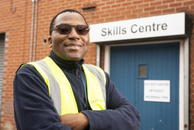 Dad goes from signing on to signing a permanent contract thanks to adult apprenticeship