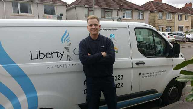 Operative in Pontypool goes extra mile trekking through the snow to fix heating for young family