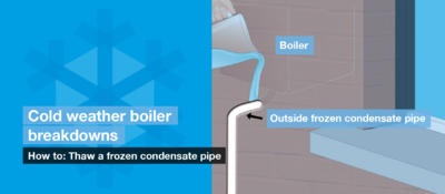 How to: Thaw your boiler's condensate pipe